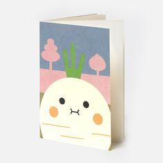 Riceraddish Pocket Notebook from Noodoll