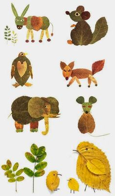 Nature Crafts for Kids - Crafts ideas 💡 Kids Crafts, Projects For Kids, Diy For Kids, Art Projects, Arts And Crafts, Autumn Art Ideas For Kids, Leaf Projects, Kids Nature Crafts, Decor Crafts