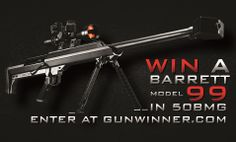 Enter this contest to win a Barrett Model 99 Rifle in from Gunwinner Cost World Market, Reloading Room, Science Of Getting Rich, Im Your Huckleberry, Online Contest, Gifts For Hunters, Guns And Ammo, Concealed Carry, Way Of Life