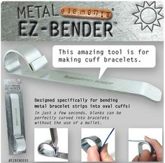 Tools-EZ Bender-Metal Bracelet Blanks-Quantity 1