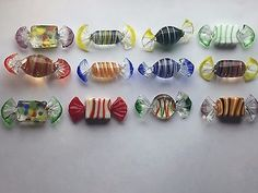 Vintage Murano Glass Candy Lot 12 Hand Blown Art Glass Candies