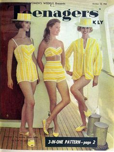 Beach outfits to sew, 1962