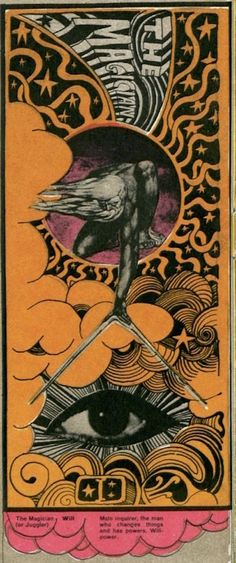 Martin Sharp's psychedelic tarot cards from 1967 |- - If you love Tarot, visit me at www.WhiteRabbitTarot.com