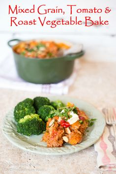 Mixed grain, tomato and roast vegetable bake- delicious and nutritious from @fussfreeflavour #healthy #recipe