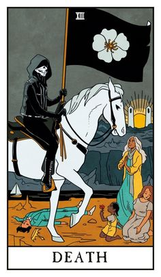 Death - Modern Witch Tarot, an art print by Lisa Sterle - INPRNT