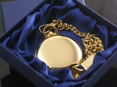 Smooth Gold Pocket Watch - 45mm
