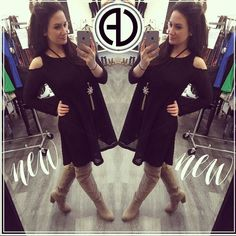 """We now have our favorite long sleeve thermal but in a Dress !!! This is so cute and comfortable ! The cold shoulder gives it a sexy look while the thermal texture keeps it super casual !  SEARCH  Lilah Thermal Dress ( Also Available In White)  USE PROMOCODE """"FREESHIP"""" for free shipping  SHOP: http://ift.tt/1rNgIir  #thermaldress #coldshoulderdress #coldshoulder #aliciasstyle #ADboutique #adfashion #adgirlgang #shop #shoponline #cuteandcomfortable #fashionista #fashion #aliciadimichele…"""