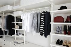 Trendy walk in closet minimalist dressing 36 ideas Walk In Robe Designs, Closet Designs, Stolmen Ikea, Elvarli Ikea, Ikea Closet, Master Bedroom Closet, Minimalist Dresses, Walk In Closet, Decoration