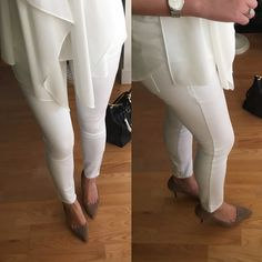 Ann Taylor Modern Super Skinny Ankle Jeans in white, size 25/0P - review on www.whatjesswore.com