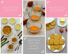 What to do with egg yolks? - Amandine Cooking - The question of the use of egg yolks often arises. After making macaroons, marshmallows or financie - Baby Food Recipes, My Recipes, Pasta Recipes, Dessert Recipes, Pancake Recipes, Chorizo, Tiramisu, How To Make Macaroons, Marshmallows