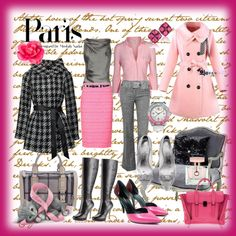 """""""Today.....Pink....hum!"""" by cristinacordeiro ❤ liked on Polyvore"""