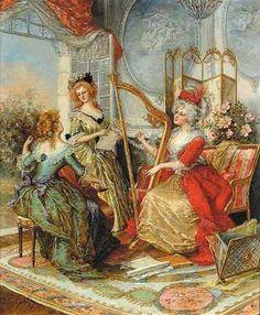 The music lesson, J. Gougelet (séc. XIX)