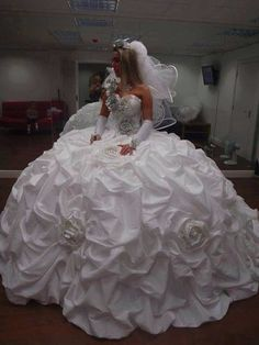 Adore this! <3 - since you said you don't care what kind of dress you get..........I saw something like this for less than $1000 on e-bay.