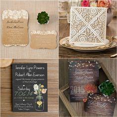 elegant rustic wedding invitations to match your outdoor wedding