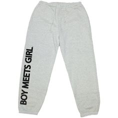 Boy Meets Girl Classic Sweats ($49) ❤ liked on Polyvore featuring activewear and activewear pants