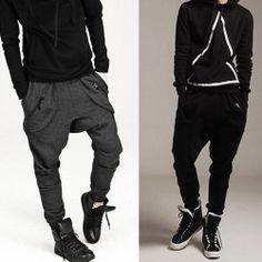 e30f697f2b86 Casual Harem Baggy Jogging Hip Hop Dance Sport Sweat Pants Trousers kllmin  New Mens Fashion,