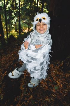 26 super easy halloween costumes procrastinators can pull together when my owl loving 4 year old asked specifically to be a snowy owl for solutioingenieria Image collections