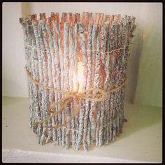 Snygg ljuslykta á la Ernst. DIY Nice homemade candle holder.