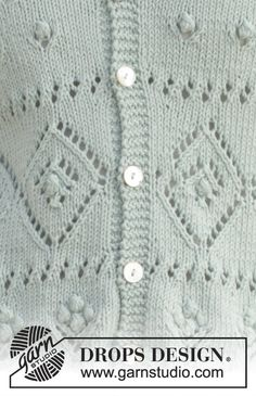 """Knitted DROPS jacket with lace pattern and raglan in """"Cotton Light"""". Size: S - XXXL. ~ DROPS Design Drops Patterns, Lace Patterns, Knitting Patterns Free, Free Pattern, Free Knitting, Drops Design, Magazine Drops, Lace Jacket, Pattern Library"""