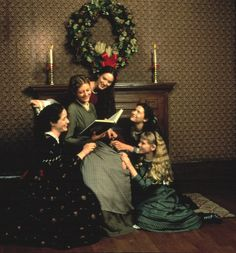 Little Women (1994)... How I feel when I cuddle with my 3 daughters.  Classic movie (and book)- please SHARE THIS with your children!  Cities neighboring Seattle sometimes have Little Women plays (we've seen 3 different shows in 5 yrs time)- AMAZING in person!