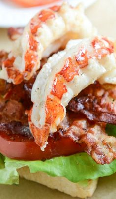 Lobster BLTs hmmmmmm... Might have to try this