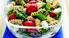 Lunch or dinner ready in 20 minutes! Enjoy this delectable pasta salad featuring spinach, tomatoes and cheese - a wonderful fall recipe.