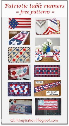 Quilt Inspiration: Free pattern day: Patriotic and flag quilts