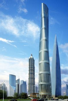 Shanghai Tower, Future Architecture, Skyscrapers, Tower, Futuristic Architecture