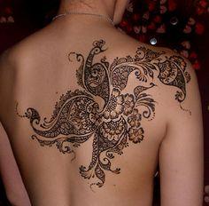 mehndi style tattoo