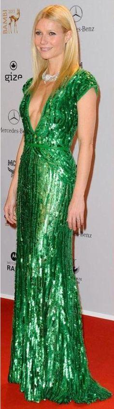 Gwyneth Paltrow - green dress