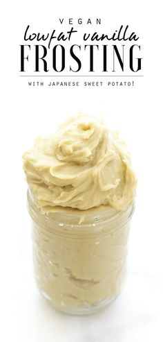 Low-Fat Vegan Vanilla Frosting (made with Japanese sweet potato!)