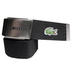 919733460733 LACOSTE Black RC1287 Canvas Belt Lacoste