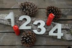 Adventskranz Zahlen aus Beton 1,2,3,4 - Deko - Weihnachten in Nordrhein-Westfalen - Jülich   eBay Kleinanzeigen