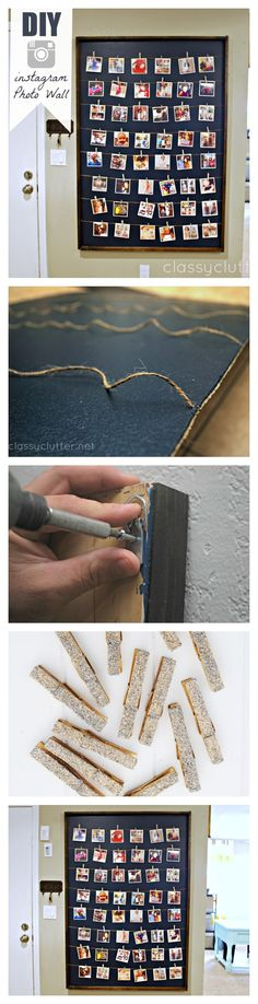Easy #DIY Tutorial for this Instagram Photo Wall Display