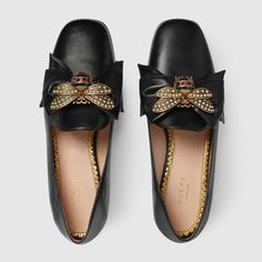 Gucci Leather ballet flat with bow Detail 3