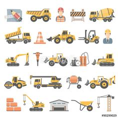 Vektor: Flat Icons - Construction