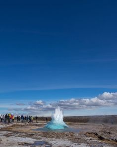 2015-06 Strokkur about to erupt Iceland. #toptravelspot #iceland #traveling #strokkur #thingvellir #geyser #blue #water #steam #locationindependent #instantraveling #instatraveling #travelphotography #landscapephotography #sonyalpha