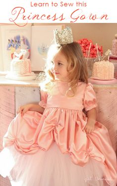 Princess Gown Tutorial - learn how to sew the skirt for a gorgeous princess gown!