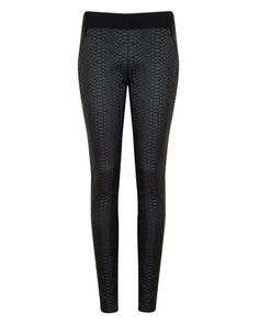 Snake effect panelled legging - Black Black Trousers, Black Jeans, Jeans Pants, Shorts, Fall Boots, Black Leggings, Kids Wear, Oakley, Ted Baker