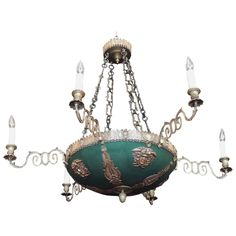 Grand Italian Neoclassical Bronze Chandelier | From a unique collection of antique and modern chandeliers and pendants at https://www.1stdibs.com/furniture/lighting/chandeliers-pendant-lights/