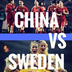 China vs Sweden   #olympics #olympics2016 #rio2016 #soccer #football #futebol Olympic Football, Rio 2016, Sweden, Olympics, Soccer, China, Movies, Movie Posters, Football