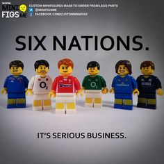 Show your patriotism and your love of rugby with Six Nations custom LEGO minifigures. Rugby League, Rugby Players, Rugby Images, Rugby Poster, Six Nations Rugby, Rugby Girls, Wales Rugby, Rugby Sport, Irish Rugby