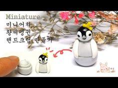 Miniature Emperor Penguin Container clay tutorial