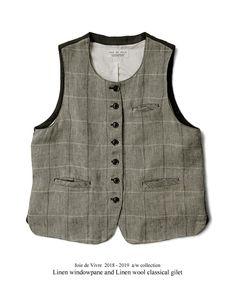 【楽天市場】【送料無料】Joie de Vivreリネンウィンドペン×リネンウールクラッシクジレ:BerryStyleベリースタイル Clothes Crafts, Boho Fashion, Fashion Design, Couture, Wool, Knitting, Classic, How To Wear, Jackets