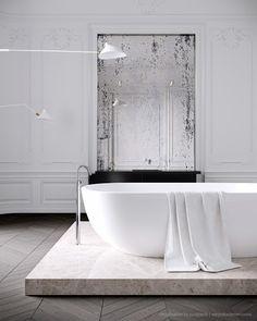 DesignLIbrary.com.au - Bathroom ideas - white classic styling