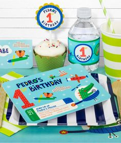 First Birthday Party in a Box for Boys(($))