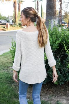 Moo's Musing: Date Night Attire  Brown Sweater