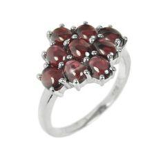 Stříbrný dámský prsten Silvego s pravým Českým Granátem RSG36363