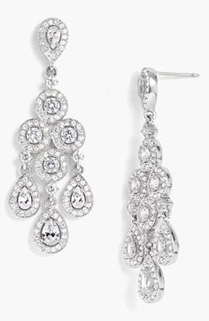 These are the earrings I wore for my wedding! Love them! Wedding Jewelry. Faux Diamonds