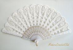 Wedding Lace Fan- Hand Held Fan- Handmade Lace Hand Fan- Folding Hand Fan…